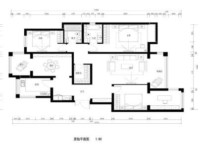 中式风格-144平米三居室装修设计