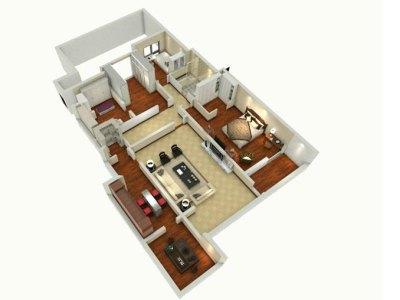 现代简约-159平米五居室装修设计