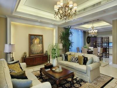 简欧风格-95平米三居室装修设计