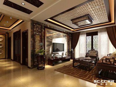 中式古典-137平米三居室装修样板间
