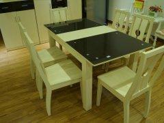 金思达家具3K12拉伸餐桌加餐椅