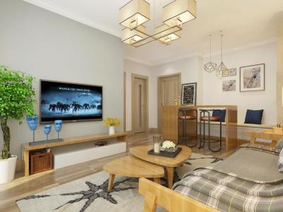 日韩风格-60平米二居室装修样板间