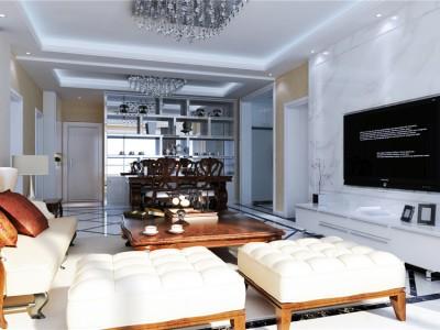 混搭风格-120平米三居室装修样板间