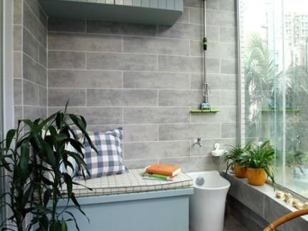 简约风格四居室小清新格调阳台设计图