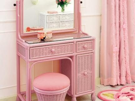 可爱粉色系梳妆台设计图片