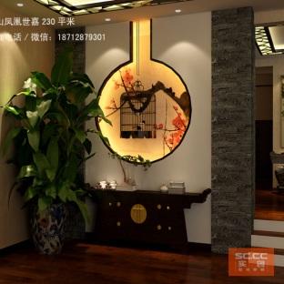 中式古典六居室玄关装修效果图
