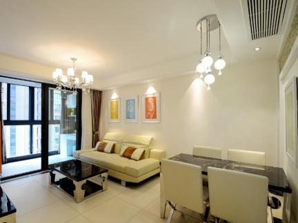 58平淡雅简约风格一居室装修效果图