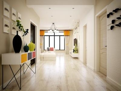 现代简约-88.9平米二居室装修样板间