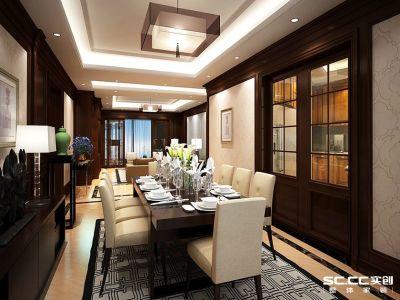 中式风格-165平米四居室装修样板间