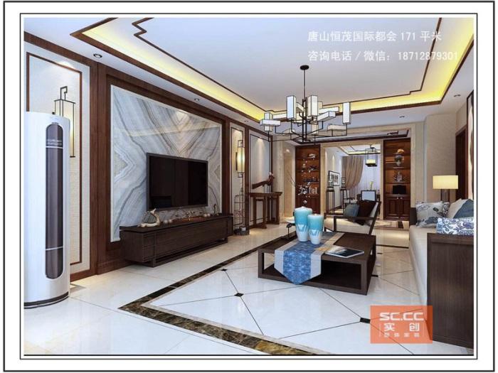 中式古典-171平米三居室-装修样板间