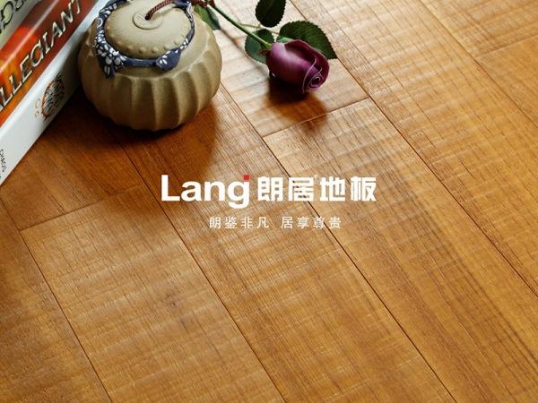 朗居缅甸柚木实木地板 拉丝 锯齿 哑光