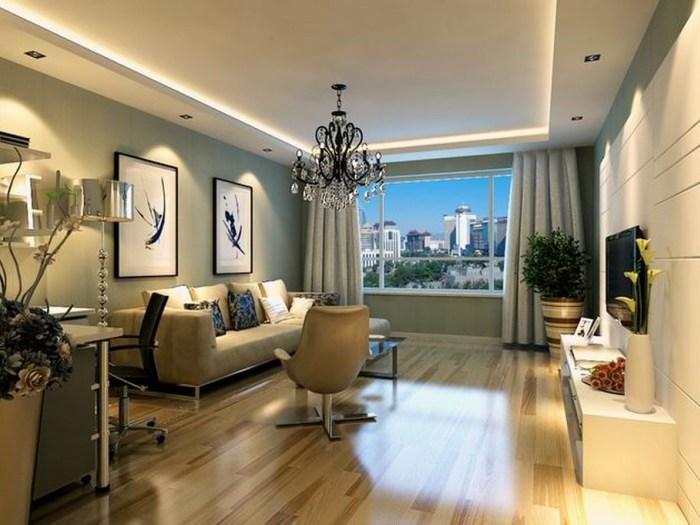 现代简约-98平米二居室-装修样板间
