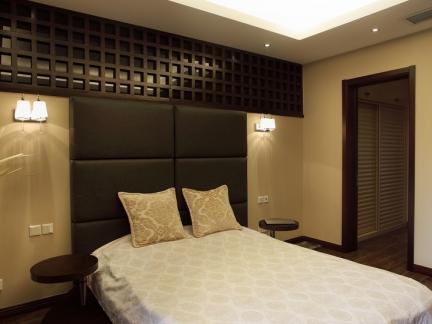 现代风格卧室床头软包背景墙效果图大全