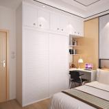 顶固 整体衣柜推拉门木质衣柜衣橱侧柜 现代简约白浮雕转角柜图片