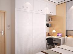 顶固 整体衣柜推拉门木质衣柜衣橱侧柜 现代简约白浮雕转角柜