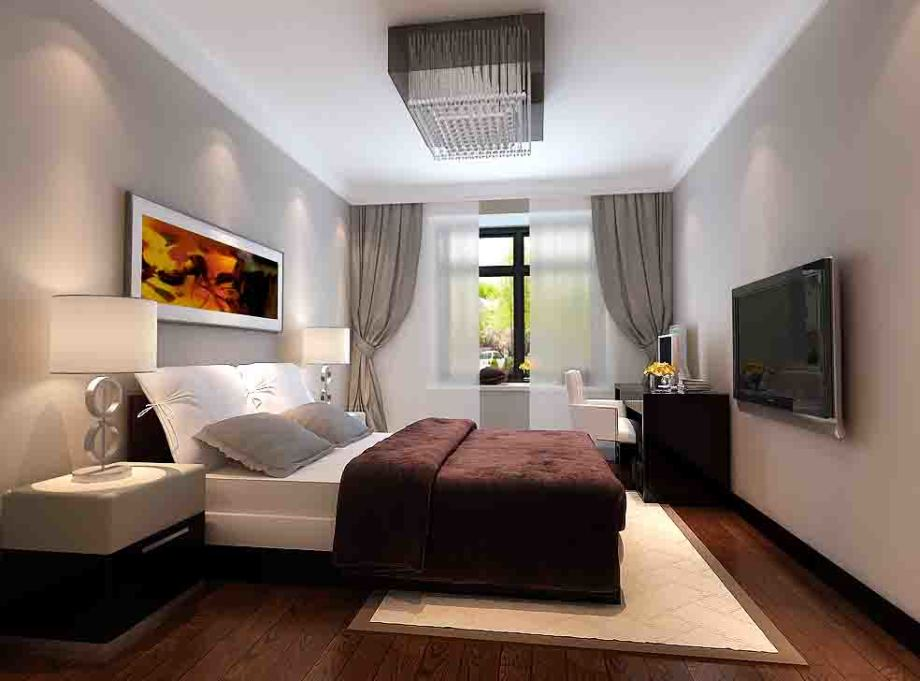 城 现代简约 94平米二居室装修图片高清图片