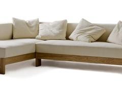 原生居品 北美红橡木 黑胡桃木实木骨架 布艺转角沙发