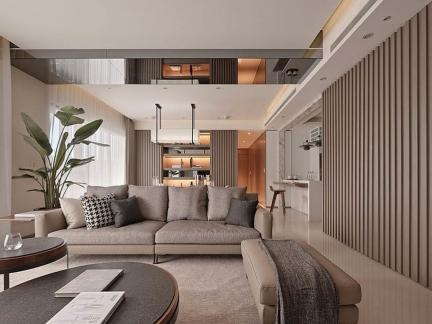 典雅235平别墅简约风格客厅装修效果图