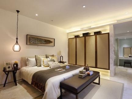 华丽现代风格卧室隔断装修案例