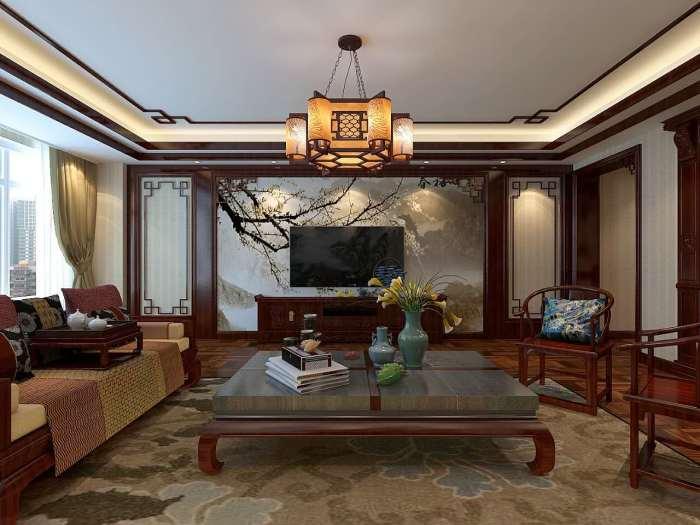 中式风格-230平米四居室-装修样板间