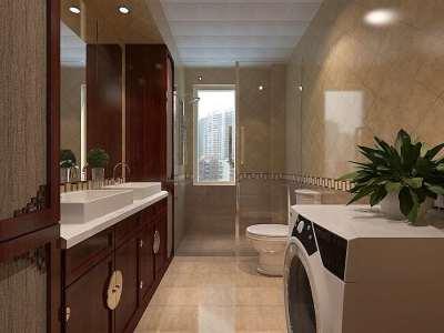 中式风格-230平米四居室装修样板间