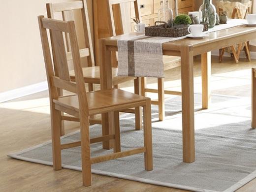 奥斯陆原木色白橡木全实木餐椅