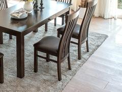 佛山庄 红橡木实木 皮椅子 餐厅椅 书桌椅