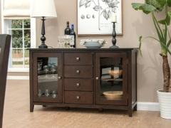 丹佛山庄红橡木纯实木 餐边柜 两门四抽碗柜