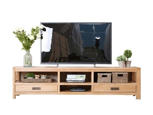 奥斯陆 原木色白橡木全实木电视柜