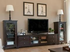 丹佛山庄 红橡木纯实木 电视柜 组合柜