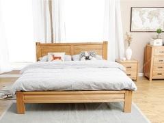 奥斯陆 原木色白橡木全实木1.8米全实木大床