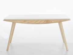 泊系列 现代简约浅色实木桌腿餐桌椅