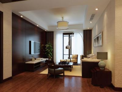 中式古典-128.08平米三居室装修样板间
