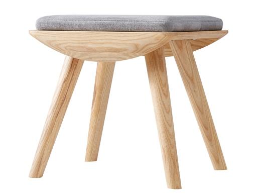 泊系列 现代简约浅色家具梳妆凳