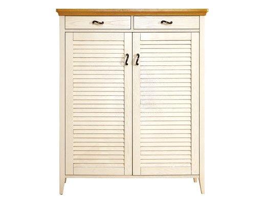 棕榈泉 地中海系列浅色实木鞋柜/置物柜