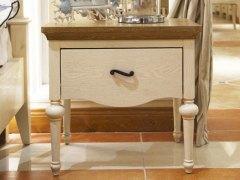 棕榈泉 地中海系列浅色实木床头柜