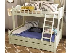 棕榈泉 地中海系列浅色实木儿童组合床