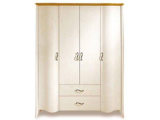 棕榈泉 地中海系列浅色实木四门衣柜
