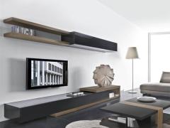 LIGNRUE 电视柜茶几组合实木客厅简约现代伸缩烤漆地柜