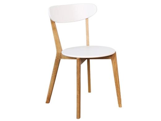 北欧生活 北欧简约实木白色餐椅