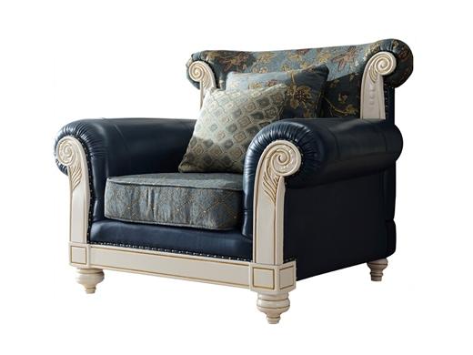 艾美系列 小美式真皮布艺实木沙发组合YSJZ805沙发