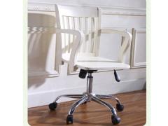艾美系列 小美式白色儿童书椅转椅