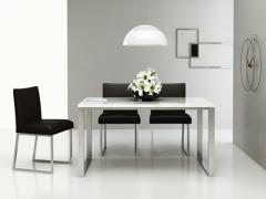 洛克 现代简约大理石不锈钢餐桌椅