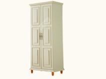 艾美系列 小美式白色对开门衣柜YSJZ608图片