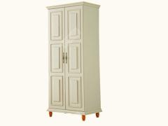 艾美系列 小美式白色对开门衣柜YSJZ608