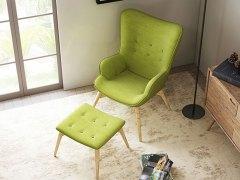 奥丁 懒人沙发椅 躺椅欧式布艺椅