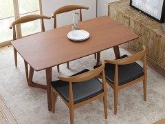奥丁 胡桃木色实木餐桌椅