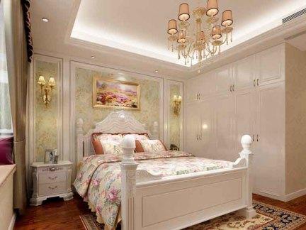 简欧风格四居室卧室床头柜装修效果图图片
