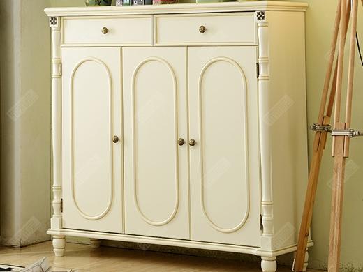 艾美系列 小美式白色鞋柜YSJZ801