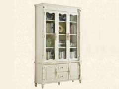 艾美系列 小美式白色三门书柜YSJZ866